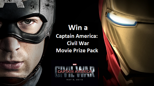 Win a Captain America:  Civil War Movie Prize Pack