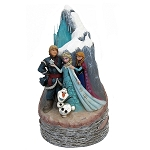 Disney Traditions Frozen Carved By Heart Statue