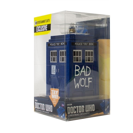 Doctor Who Bad Wolf TARDIS Ornament w/sound - EE Exclusive