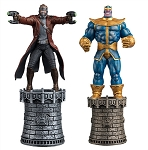 Marvel Chess Collection - Thanos & Star-Lord Black & White King Set with Collector Magazine
