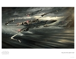 Star Wars EP7 The Force Awakens Paper Giclee Print - Incom T-70: Tearin' It Up