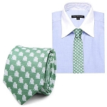 Star Wars Yoda Green and Grey Silk Tie