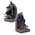 Superman and Batman Bookend Statues