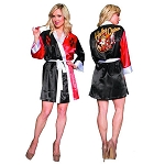 DC Bombshells Harley Quinn Satin Robe - Previews Exclusive