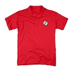 The Flash Embroidered Flash Logo Red Polo Shirt