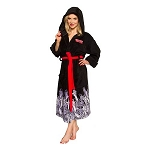 The Walking Dead Black Hooded Adjustable Bathrobe