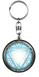 Iron Man Arc Reactor Glow in the Dark Pewter Key Ring