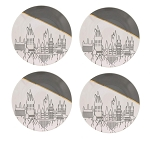 Harry Potter Hogwarts Grey & Gold 4pc 6