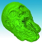 The Walking Dead Zombie Head Gelatin Mold