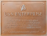 Star Trek Dedication Plaque - U.S.S. Enterprise NCC 1701-A