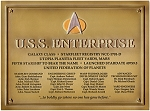 Star Trek Dedication Plaque - U.S.S. Enterprise NCC 1701-D