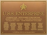 Star Trek Dedication Plaque - U.S.S. Enterprise NCC 1701-E