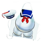Ghostbusters Stay Puft Marshmallow Man Apron & Chef Hat
