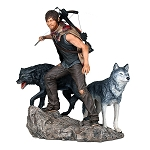 The Walking Dead Daryl Dixon and the Wolves Statue