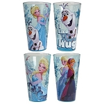 Disney Frozen Glitter 16oz Pint Glass - Set of 4