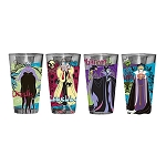 Disney Villains 16oz Pint Glass - Set of 4