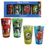 Disney Pixar Characters 16oz Pint Glass - Set of 4
