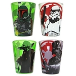 Star Wars Characters 1 1/2oz Shot Glass - Set of 4