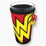 Wonder Woman Logo Cooler Sleeve with 16oz Glass