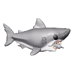 "Jaws Great White Shark with Diving Tank 6"" Pop! Vinyl Figure"