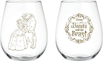 Disney's Beauty & The Beast 16oz Stemless Wine Glasses - Set of 2