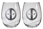 Deadpool 16oz Stemless Wine Glasses - Set of 2