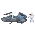 Star Wars EP7 The Force Awakens First Order Snowspeeder with 3 3/4