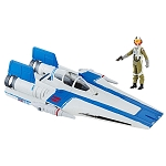 Star Wars The Last Jedi Force Link A-Wing Fighter with 3 3/4