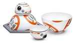 Star Wars EP7 The Force Awakens BB-8 Chip & Dip Bowls w/Serving Platter - 3pc Set