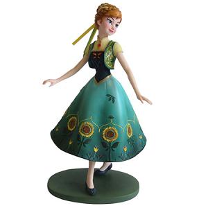 Disney Frozen Fever Anna In Green Dress Showcase Statue