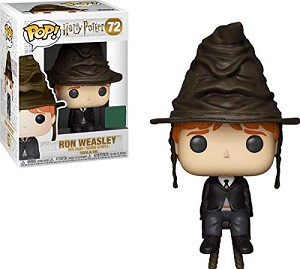 Harry Potter Ron Weasley with Sorting Hat Pop! Vinyl Figure