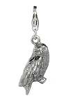 Harry Potter Sterling Silver Hedwig the Owl Clip-on Charm