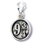 Harry Potter Sterling Silver Platform 9 3/4 Clip-on Charm
