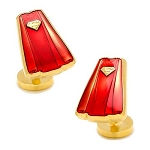 Superman Cape Transparent Enamel Cufflinks