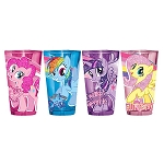 My Little Pony Friendship is Magic Glitter Pony Pose 16oz Pint Glass - Set of 4