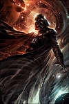 Star Wars Paper Giclee Print - Darth Vader Center of the Storm