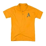 Star Trek Embroidered Command Symbol Golden Yellow Polo Shirt