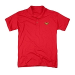 Wonder Woman Embroidered Wonder Woman Symbol Red Polo Shirt