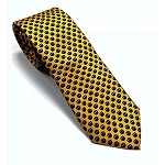 Star Wars Rebel Alliance Symbol Yellow and Navy Silk Tie