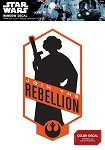 "Star Wars Princess Leia ""Join the Rebellion"" Badge Decal"