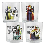 Disney's Villains 10oz Rock Glasses - Set of 4