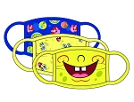 Spongebob Squarepants 3 Pack Kids Facemask Set