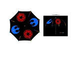 Star Wars Rebel & Empire Symbol LED Umbrella with Flashlight Handle