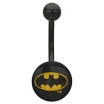 Batman Fixed Logo Navel Ring