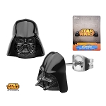 Star Wars Black 3D Darth Vader Helmet Stud Earrings