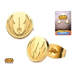 Star Wars Gold Plated Jedi Order Symbol Stud Earrings