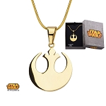 Star Wars Gold Plated Rebel Alliance Symbol Pendant w/20