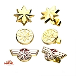 Captain Marvel Stud Earrings Set - 3 Pairs