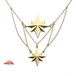 Captain Marvel Matte Finish 2-Tiered Necklace