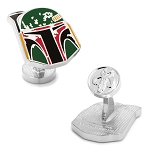 Star Wars Distressed Boba Fett Helmet Cufflinks